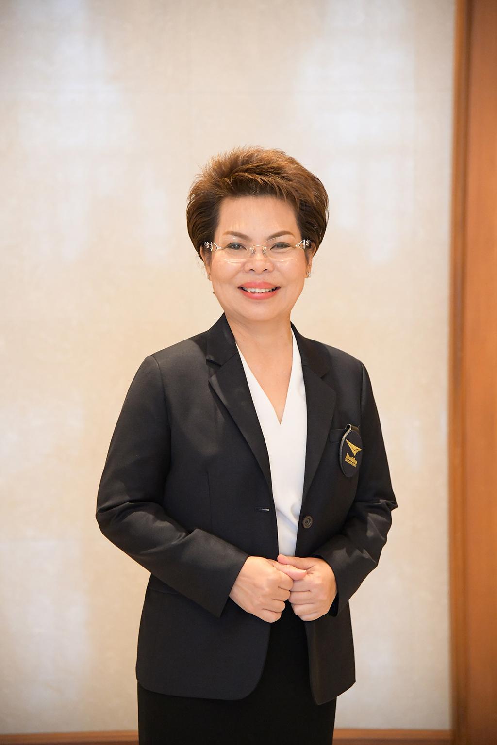 นางสมร เทิดธรรมพิบูล กรรมการผู้จัดการใหญ่ บริษัท ไปรษณีย์ไทย จำกัด (ปณท)